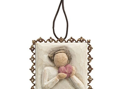 Willow Tree hand-painted sculpted Metal-edged Ornament, From the Heart