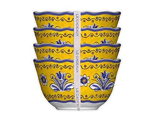 Le Cadeaux 098BEN Set of 4 Desert Bowls Benidorm, 5 inches, Multicolor