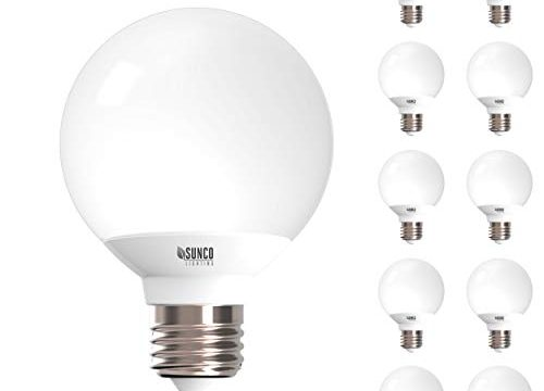UL & Energy Star – Sunco Lighting 10 Pack G25 LED Globe, 6W=40W, Dimmable, 2700K Soft White, E26 base, Omnidirection Bulb for Vanities, Lamps, Light Fixtures
