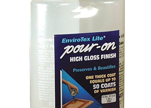 Environmental Tech Envirotex Pour-on High Gloss Finish 1/2 Gallon Kit