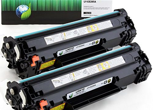 LINKYO Compatible Toner Cartridge Replacement for HP 85A CE285A Black, 2-Pack