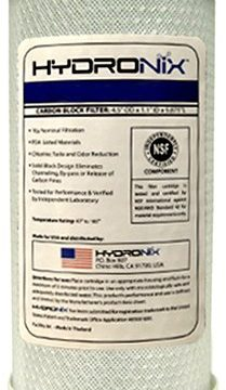 Hydronix CB-45-1005 NSF Carbon Block Filter 4.5″ OD X 9 7/8″ Length, 5 Micron