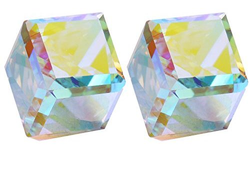 Crystals Women Stud Earring Crystals Made with SWAROVSKI ELEMENT Water Cube CHANGEABLE