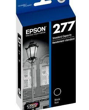Epson T277120-S Claria Photo HD 277 Standard-capacity Black Ink Cartridge T277120 Ink