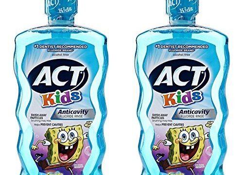 ACT Kids Anti-Cavity Mouthwash, Sponge Bob Squarepants, 16.9 oz. Pack of 2
