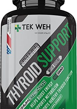 All Natural Formula to Boost Energy, Support Metabolism, Focus & Healthy Thyroid Function – Thyroid Support Supplement with Iodine