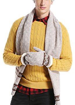 Lovful Women Men 3 Pcs Winter Knit Hat Set, Warm Beanie Hat Scarf,Gloves Winter Set