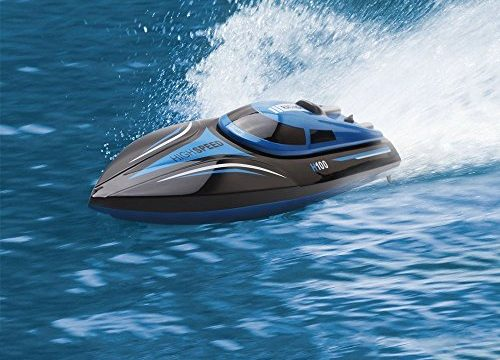 TOYEN GordVE Remote Control Boat for Lakes, Pools and Outdoor Adventure 4CH High Speed Electric RC Boat-Blue
