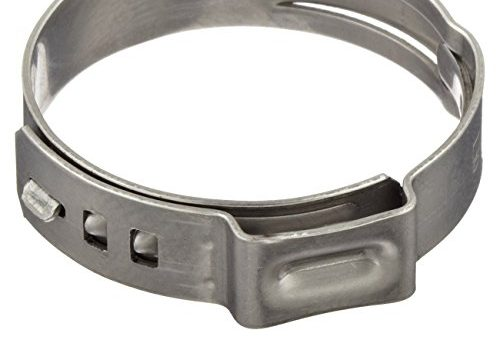 Oetiker 16700007 Stepless Ear Clamp, One Ear 5 mm Band Width, Clamp ID Range 9.6 mm Closed – 11.3 mm Open Pack of 25