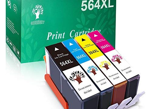 GREENSKY Compatible Ink Cartridge Replacement for HP 564XL  Black,Cyan,Magenta,Yellow , 4-Pack
