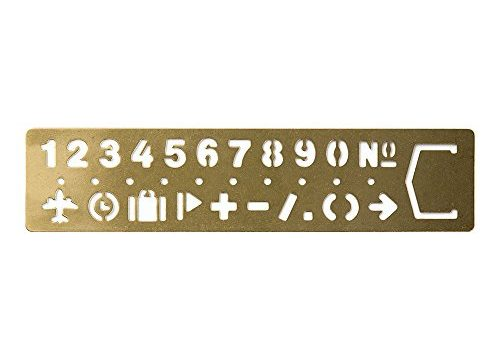 Midori Brass Template Bookmark, Number 42168006
