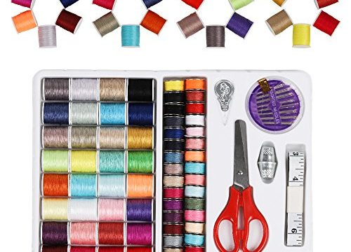 Sewing Thread 100 Quantity Mixed Colors Sewing Kit For Basic Sewing Machine, Emergency and Travel LT-B00BWXDHZY