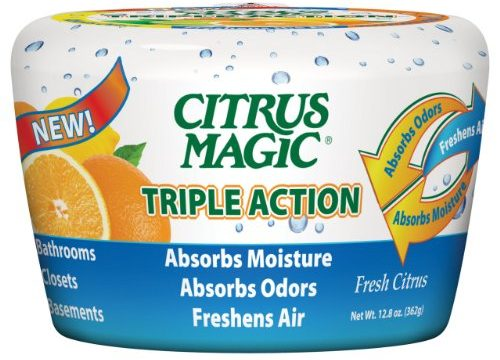 Citrus Magic 618372454 Triple Action Moisture and Odor Absorber Fresh Citrus, 12.8-Ounce