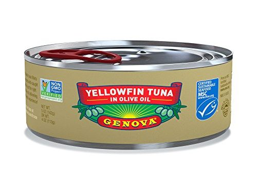 Genova Yellowfin Tuna in Pure Olive Oil, 5 Ounce Pack of 24