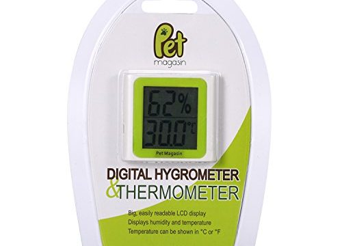 Pet Magasin Digital Thermometer and Hygrometer Battery Included for Terrariums and Aquariums