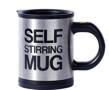 Chris home Forum Novelties Self Stirring Coffee Mug, 11.8 Ounces