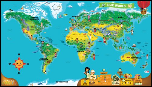 LeapFrog LeapReader Interactive World Map works with Tag