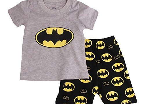 "Baby House ""Bat Man "" Boys Shorts 2 Piece Pajama Set 100% Cotton G6057t8"
