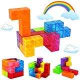 Veatree Puzzle Magnetic Building Blocks Toys, Magnet Construction Build Kit Education Toys for Kids Magic Cube Stacking Game with Magnetic Bricks and Sticks