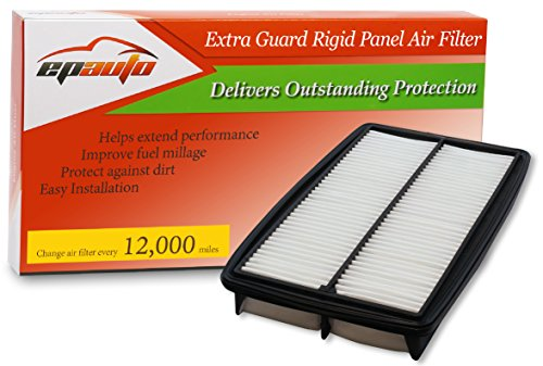 EPAuto GP013 CA10013 Honda/Acura Replacement Extra Guard Rigid Panel Engine Air Filter for Odyssey 2005-2010, Pilot 2009-2015, MDX 2007-2009