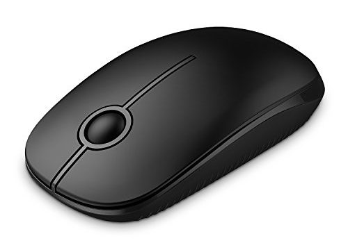 Jelly Comb 2.4G Slim Wireless Mouse with Nano Receiver, Less Noise, Portable Mobile Optical Mice for Notebook, PC, Laptop, Computer, MacBook MS001 Black