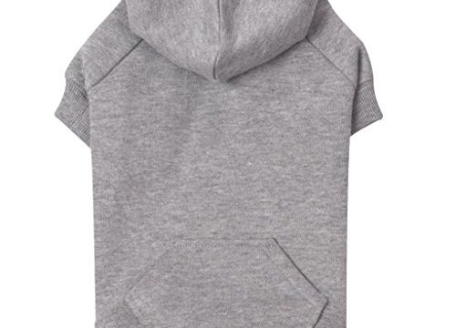 Zack & Zoey Basic Hoodie for Dogs, 24″ X-Large, Heather Gray