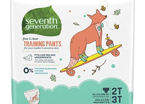 Seventh Generation Baby & Toddler Training Pants, Medium Size 2T-3T, 100 count Packaging May Vary