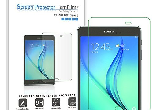 amFilm Glass Screen Protector for Galaxy Tab A 8.0 Tempered Glass, for 2015 Tab A 8.0 Model SM-T350