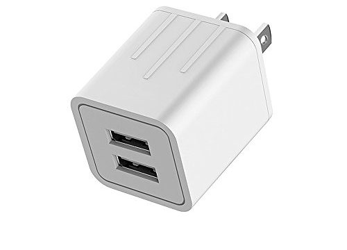 YUNSONG USB Wall Charger Fast Dual Port Travel Adapter Portable Rapid Phone Charger Block Power Charging PlugETL Listed Compatible with Phone/Pad 1Pack