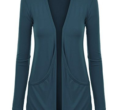 MBJ WSK848 Womens Draped Pocket Cardigan XL Teal