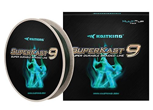 Advanced Braid Line for Maximum Casting Distance & Durability for Saltwater & Fresh Water Surf Fishing, Bass Fishing – KastKing New SuperKast9-9 Strand Braided Fishing Line