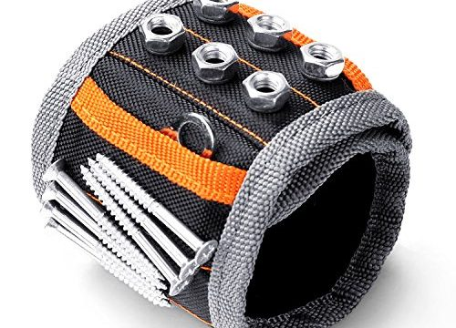 HORUSDY Magnetic Wristband,with Strong Magnets for Holding Screws, Nails, Drilling Bits, of The Best Christmas Day Tools for Men Gift