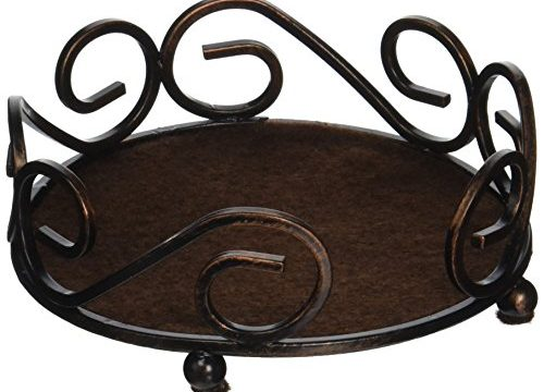 Thirstystone Round Scroll Holder, Bronze