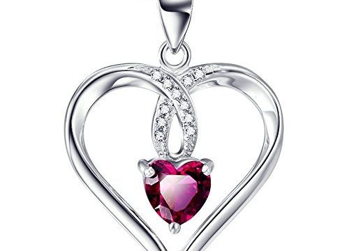 S925 Sterling Silver I love you to the moon and back charm Forever Lover Heart Pendant Necklace For Women, 18″