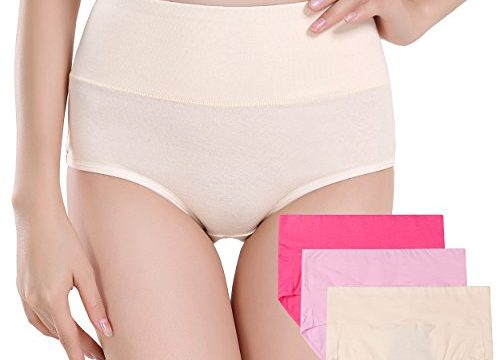 Innersy Women's 3 Pack Ultra Soft Postpartum Menstrual Period Protective Cotton Panties Underwear Love Yourself First S, Solid Color 1