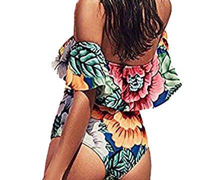 CoCo Fashion Womens Push up Padded Colorblock Bikini Swimwear Swimsuit,Swimwear O03,Medium