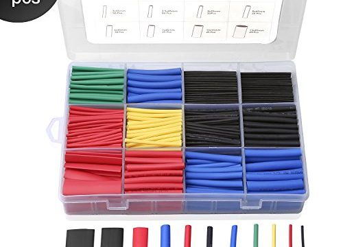 560PCS Heat Shrink Tubing 2:1, Eventronic Electrical Wire Cable Wrap Assortment Electric Insulation Heat Shrink Tube Kit with Box5 colors/12 Sizes