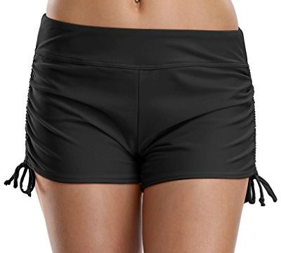 ATTRACO Women's Swim Board Shorts Solid Active Sports Bottom