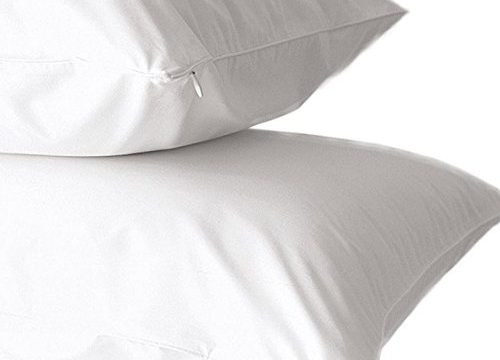 Home Fashion Designs 2 Pack Premium Pillow Protectors | 100% Cotton | Feather & Down Proof | Breathable Encasement | Jumbo/Queen Size Zippered Pillow Covers