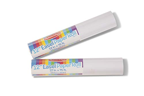 "Melissa & Doug 12"" Easel Paper Rolls, Arts & Crafts, Bond Paper, 75-Foot Rolls, 2-Pack"