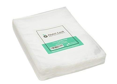 Nutri-Lock Vacuum Sealer Bags. 100 Quart Bags 8×12 Inch. Commercial Grade Food Sealer Bags for FoodSaver, Sous Vide