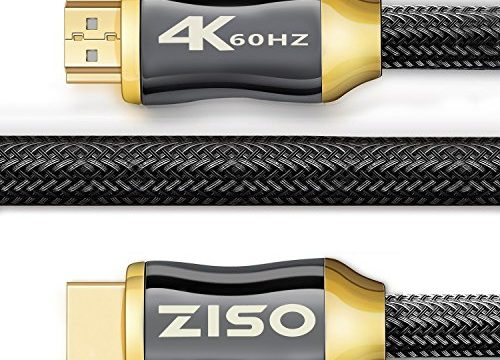 Ethernet/Audio Return Channel, Supports Video 2160p HDS, Ultra HD blu-ray Xbox PS4 28 AWG, 18Gbps – 4K High Speed HDMI Cable 6 Feet-HDMI 2.0 Ready 4K 60Hz- HDCP 2.2,Gold Plated Connectors-