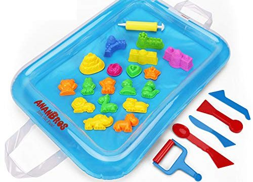 For Play Sand, Coolsand, & Other Molding Sand – AnanBros Sand Molds & Tools Kit + Sand Tray, Magic Molding Play Sand Toys for Kids