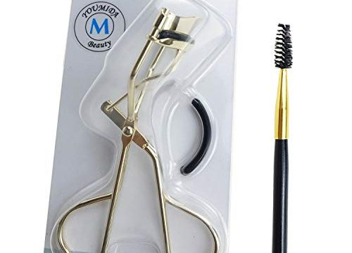 Eyelash Curler with Refill Pads, Eyelash Curler with Eyelash Brush for Women Girls