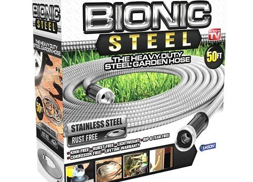 Lightweight, Kink-Free, and Stronger Than Ever, Durable and Easy to Use – Bionic Steel 304 Stainless Steel Metal Garden Hose