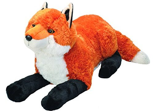 Wild Republic Jumbo Fox Plush, Giant Stuffed Animal, Plush Toy, Gifts for Kids, 30″
