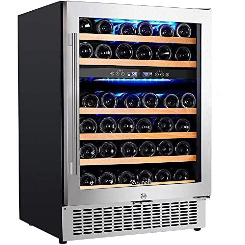 Top 10 Aobosi 24 Inch Dual Zone Wine Cooler – Freestanding Wine Cellars